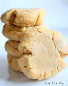 GF Peanut Butter Cookies via designdininganddiapers.com