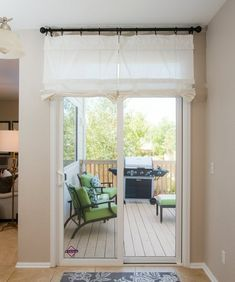 Off White Sliding Glass Door Curtain Shade - Pricing is for 1 Panel - April 13 2019 at Glass Door Curtains, French Door Curtains, French Doors, Curtains For Patio Doors, Glass Doors, Shower Curtains, Curtain Door, Patio Blinds, Glass Door Coverings