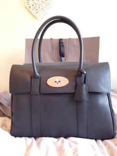My perfect Mulberry Bayswater in Graphite Pebbled leather