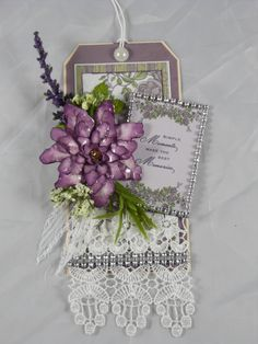 Designs by Shellie Tranquil Gardens paper collection was used to create this beautiful Tag