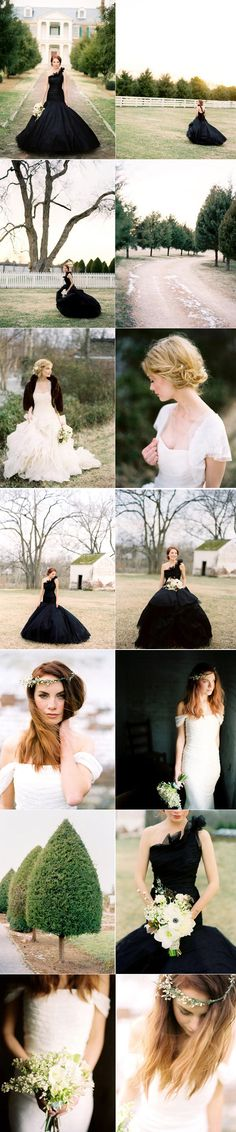 a black wedding gown