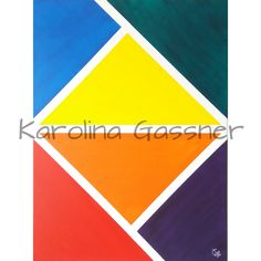 """""""Balanced Colours by Karolina Gassner © 2018 acrylic on canvas Group Art, Acrylic Paintings, 2 Colours, Abstract Expressionism, Canvas, Tela, Canvases"""
