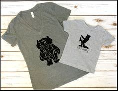 Mom and baby Where the wild things are T-shirt and onesie! Please let me know if you have any questions!  After order, please let me know if you would