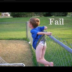 extreme fence wedgie!