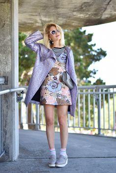 Everyday to Editorial Lavendar Metallic Balenciaga Jacket, how to style a lavender jacket, creative outfit ideas