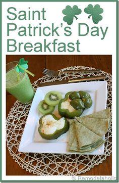 St. Patrick's Day Breakfast #green #breakfast