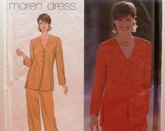 Jacket Skirt and Pants Simplicity Pattern 9128 Size 8 10 12