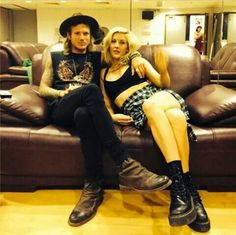 Ellie and Dougie Poynter