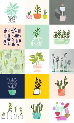 Yesterday I finished the 100 Day Project, where I drew a plant a day for  100 days.: