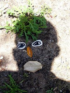 Outdoor Shadow Faces-photography fun  - I will have to do this next year for shadow and  Ground Hogs day.  What a fun outdoor activity!  Recommended by Charlotte's Clips