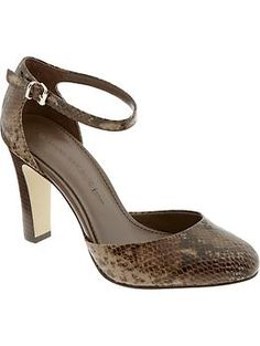 stylish and feminine...   Julia ankle-strap pump | Banana Republic