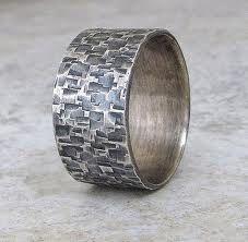 Men's hammered ring. Done.