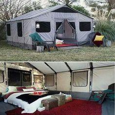 Long term camping tent setup