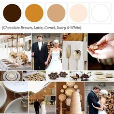 Chocolate Brown, Latte, Camel, Ivory + White http://www.theperfectpalette.com/p/color-palettes_17.html