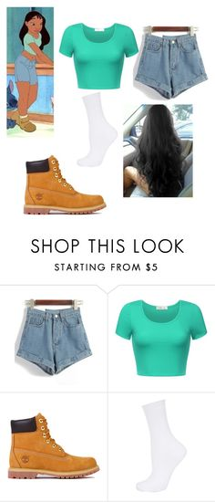 """""""Nani from lilo and stitch"""" by maryjsullivan on Polyvore featuring Timberland and Topshop"""