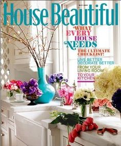 Home Decor Magazine this cover shows how the main topic of magazine can still appear