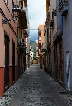 Una calle del Puerto de Tazacorte