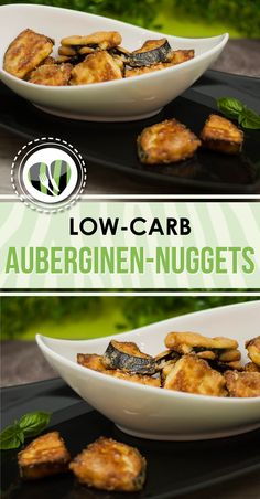 Die Auberginen-Nuggets sind lecker zum knabbern aber schmecken auch als Hauptmahlzeit. Sie sind low-carb und glutenfrei.