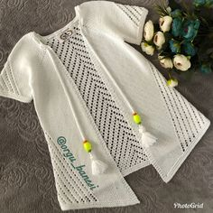 Tű: Kor: A nyak 76 kezdő szemét Crochet Vest Pattern, Baby Knitting Patterns, Knitting Stitches, Crochet Baby Hats, Knitted Hats, Knit Crochet, Knit Baby Sweaters, Summer Knitting, Poncho