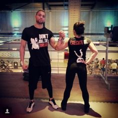 "Barstarzz fitness couple @barstarzzjay & @chiovanna repping their ""don't kill the dream shirts"" be inspired. Catch it on www.barstarzz.com/store #barstarzz #Amsterdam #netherlands #fitcouple"