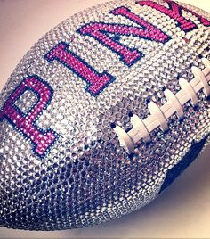 my daughter's fav things VS PINK,football & bling, want to find this or try to make! Vs Pink, Pink Love, Pretty In Pink, Purple, Pretty Pics, Bling Bling, Vs Rosa, Pink Football, Watch Football