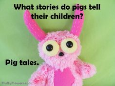 cute & clean pig kids joke for children featuring an adorable monster :)