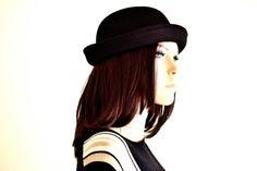 Classic Black Trilby Hat (Unisex) - Sun Hats for Women, Black Trilby, Bucket Hats, Pork Pie Hat, Cool Hats, Cool Hats For Men, Bowler Hat