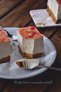 Cocinando con Kisa: Tarta mousse de queso (KitchenAid) Great Desserts, Delicious Desserts, Dessert Recipes, Yummy Food, Japanese Cheesecake, Sweet Pastries, My Dessert, Sweet Cakes, Something Sweet