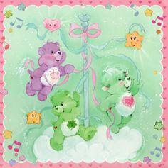 Care Bears & Cousins Set: Share Bear & Good Luck Bear with Gentle Heart Lamb