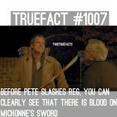 TWD True Fact - Yikes, did he kill someone we don't know about??