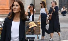 Who needs a tiara? Crown Princess Mary shops for hats in Milan