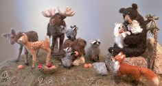"Needle Felt Animal ""Portraits"""