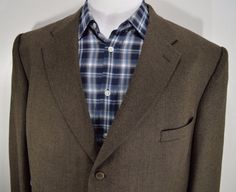 0f0a2031a84 JEAN PAUL GERMAIN mens brown sport coat blazer jacket 52R 52 regular R EU  sz 62