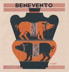 """Fortunato Depero, le Province italiane, """"I Dopolavoro aziendali in Italia"""""""