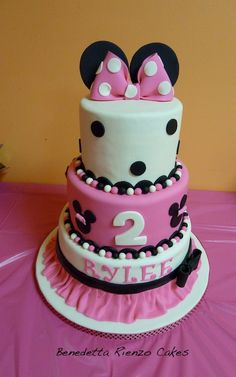 Minnie Mouse Cake for Bella's 1st bday