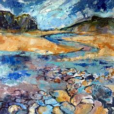 That favourite Place again, Wonwell, by Diana Booth from the 3 Media Mix exhibition at Harbour House, July 2015