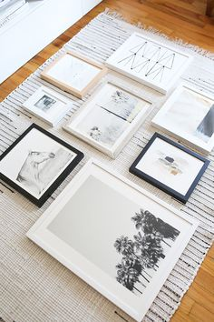how to lay out a gallery wall