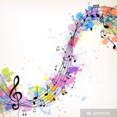 Vector Illustration of an Abstract Music Background with Notes Wall Mural ✓ Easy Installation ✓ 365 Days to Return ✓ Browse other patterns from this collection! Hallway Displays, Music Backgrounds, Music Wallpaper, Art Classroom, Large Prints, First Night, Book Design, Wall Murals, Abstract