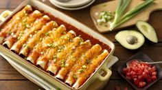 Cheesy chicken enchiladas are a favorite of the Betty Crocker Kitchens. Stuffed with Monterey jack cheese, shredded chicken, enchilada sauce and our secret ingredient: Progresso™ Traditional Chicken and Cheese Enchilada Soup, they're creamy, cheesy and a great dish for Mexican night.