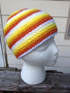 Ready To Ship Child Sized Strata Beanie  Yellows and by Jessmiloo, $20.00
