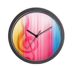Hidden Treble Clef Wall Clock