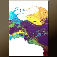 Abstract Art - 18x24 Contemporary Modern Original Canvas Art Painting by Destiny Womack - dWo - Chasing a Dream