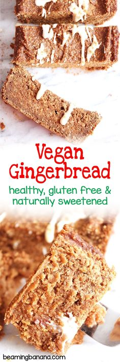 This vegan gingerbread loaf is thick, satisfying, and full of amazing spice flavor! This is the perfect breakfast or snack treat for the holiday season. Healthy, gluten free and naturally sweetened.