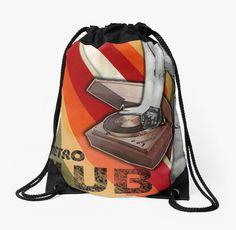 """""""RETRO CLUB"""" - Drawstring BAG BY MANANA11"""