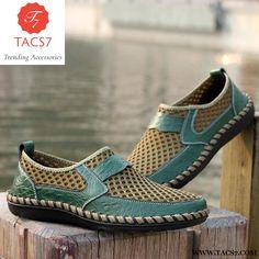 60a2891c43cf0 Breathable Men s Casual Shoes Summer Shoes Cowhide + Mesh Crocodile Pa –  Trending Accessories Slipper Sandals