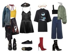 Bez tytułu #150 by payneofficial on Polyvore featuring moda, Y-3, Topshop, Valentino, Vetements, Faith Connexion, Jeffrey Campbell, Puma, Marc Jacobs and Marc by Marc Jacobs