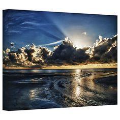 ArtWall Art Wall Dan Wilson 'Atlantic Sunrise ' Gallery-Wrapped