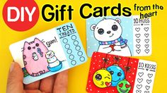 DIY How to Make Gift Cards from the Heart - Christmas Holiday Craft