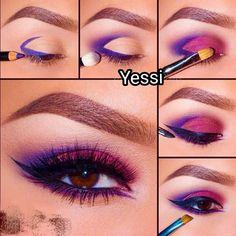 Ideas for eye makeup art eyeliner purple Eye Makeup Steps, Eye Makeup Art, Makeup Inspo, Makeup Inspiration, Makeup Tips, Makeup Meme, Beauty Makeup, Makeup Ideas, Queen Makeup