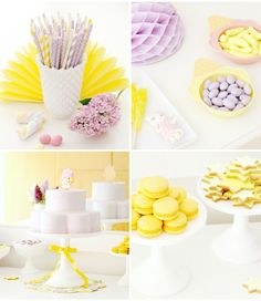Pretty lavender and yellow party.